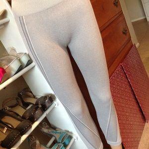 Gray capri leggings super stretch nwot